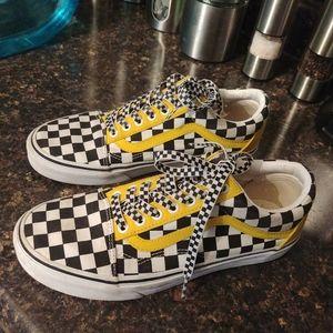Vans old skool checkerboard sneakers 8m 9.5 w